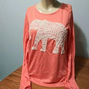 Mudd Coral Elephant Top